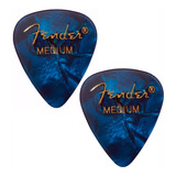 2 Pick De Guitarra Fender Medium Azul  (promoción)