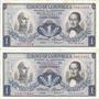 Colombia Dúo De Números Consecutivos, 1 Peso 20 Julio 1972