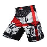 Pantaloneta Hombres Mma Boxeo Skull Kickboxing Muay Thai
