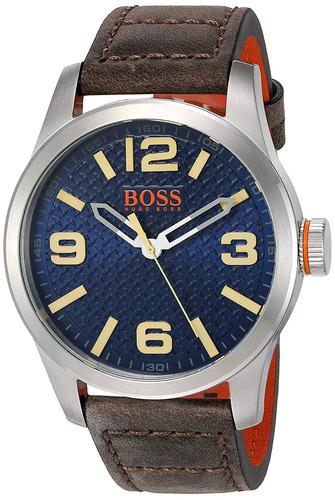 2ce65a1d1d53 Hugo Boss Naranja Hombre S Reloj De Cuarzo De Acero In..