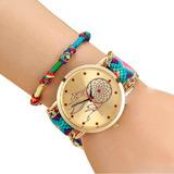 Reloj Mujer Atrapasueños Tejido - Azul