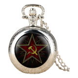 Reloj De Bolsillo Union Sovietica Urss Socialismo Martillo