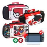 Estuche Carcasa Nintendo Switch Diseños Accesorios + Regalos