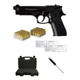 Pistola Fogueo Ekol® Beretta 92 Magnum + 50 Salvas + Cepillo