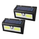 Lampara Pared Luz Led Panel Solar Sensor De Movimiento X2