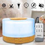 Difusor De Aroma Humidificador Aromaterapia 7 Colores 500 Ml
