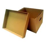 Caja De Cartón X300 Para Manejo Archivos Con Tapa C720