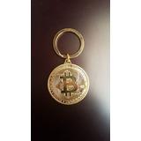 Llaveros Conmemorativos De Coleccion Bitcoin, Dorados