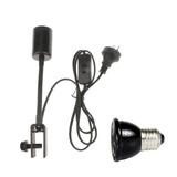 E27 Adjustable Reptile Lamp Holder Con Bombilla De Calor