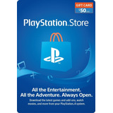 Playstation Network 50 Usd - Psn 50