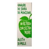 2 Vinagre Sidra Manzana C/ Madre Sin Filtrar Hecho En Italia