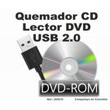 Zdvd10 Quemador Cd Y Lector De Dvd Externo Usb 2.0 Computoys