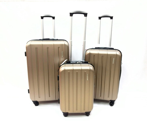 cbf8f9679 Juego - Set Maletas X3 Viaje Hard Case Grande+median+pequeña