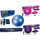 Kit Yoga Sportfitness Balón Pilates Gym-banda-riata-tapete.