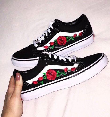 zapatillas vans mujer con flores