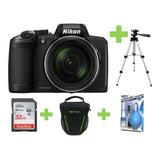 Camara Nikon Coolpix B600 16mp 60x+32gb+bolso+kit+tripode