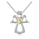 Collar Para Mujer Dije Angel Fabricado En Plata 925
