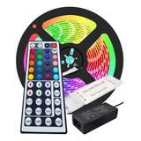 Kit Cinta Led Rgb Multicolor Con Adaptador Y Control X 2,5mt