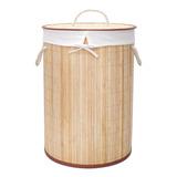 Canasto Cesta Para Ropa Sucia Bambú Organizador Begônia