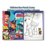 Paw Patrol Libros Colorear  * 6 Unid+ Tula Sorpresas Piñatas