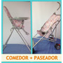 Comedor Con Paseador Cosco De Safety Color Rosado -combo