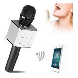 Micrófono Portátil Karaoke Q7 Bluetooth Estéreo + Estuche