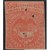 Estampillas Timbre 20 Centavos Estados Unidos De Colombia