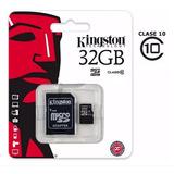 Memoria Microsd 32 Gb Kingston Clase 10 + Adaptador Sd