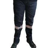 Pantalon Jean Reflectivo Dotacion Indigo Clasico Rigido