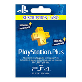 Playstation Psn Plus 1 Año Ps4 + Obsequio