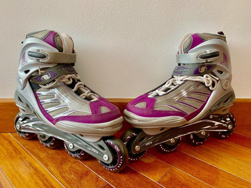 Patines Roller Derby G800 Hybrid Talla Us10 Mujer Morados