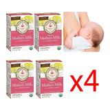 Té Orgánico Mother's Milk® Aumenta Leche Materna 4cajas