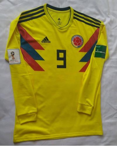 67df9605d4 Camiseta Colombia Local Mundial 2018 Falcao Manga Larga