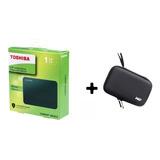 Disco Duro Externo Toshiba 1tb Tera  + Estuche Antigolpe New
