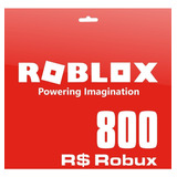 Roblox 800 Robux Pc Gift Card Entrega Digital Inmediata