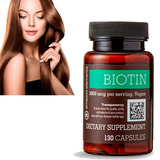 Biotina Amazon Elements Usa 5.000 Mcg X130 Caida Cabello