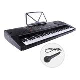 Teclado Piano Digital Electrónico 61 Teclas Con Microfono