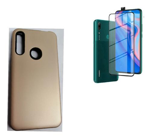 Kit Case Protector Silicona Huawei Y9 Prime 2019 + Vidrio 9d