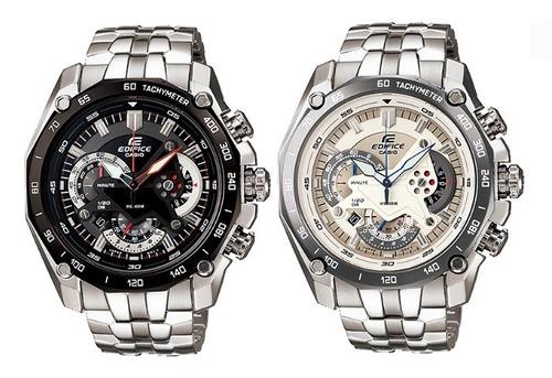 2726f8aa7508 Reloj Casio Edifice Ef 550d Taquimetro Acero Hombre Original