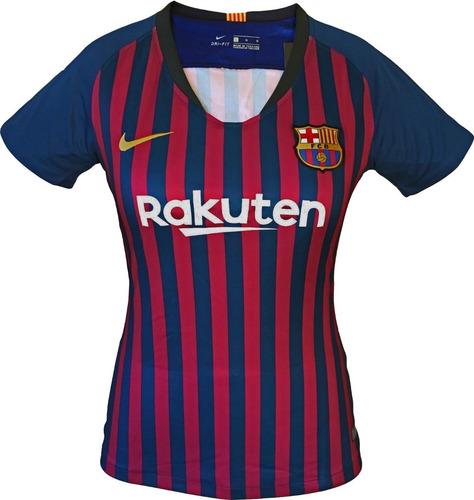 3d8994f927347 Camiseta Barcelona F.c 2018 2019 Para Mujer Oficial