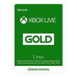 Xbox Live Gold 1 Mes Region Libre (xbox One/360) Código