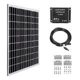 Megsun - Panel Solar De 100 W Y 12 V, Controlador De Carga