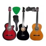 Guitarra Acustica Forro Colgador Pua Marca Aire Artesanal