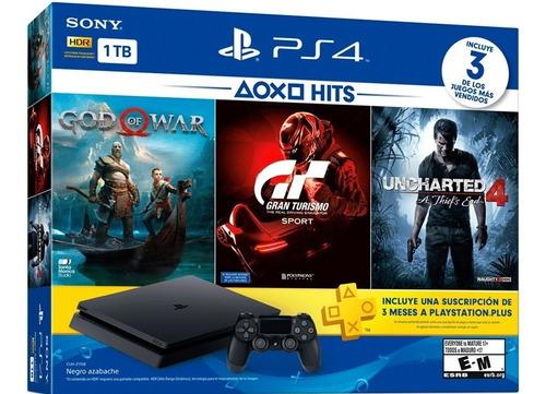 Consola Playstation 4 Slim De 1tb +3 Juegos. Sellada. Nueva