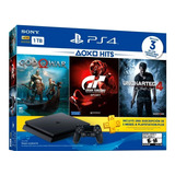Consola Playstation 4 Slim De 1tb +3 Juegos +3 Meses Ps Plus