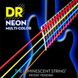 Encordado Dr Nmcb545 Bajo Electrico Neon Multicolor  5c
