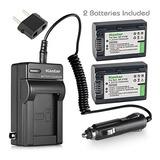 Kastar Batería 2 Paquete + Cargador Para Sony Np-fv30 Np-...