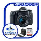 Canon 77d Con Lente 18-55mm Incluye Memoria De 64gb + Bolso