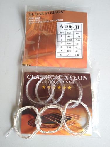 Encordados Para Guitarras Acusticas Cuerdas En Nylon