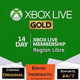 Xbox Live Gold 14 Días Región Libre Código Oficial